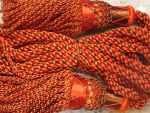 Silk Drone Cords: Orange & Brown