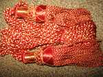 Silk Drone Cords: Red & Gold