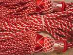 Silk Drone Cords: Red & White