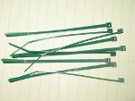 Set of Drone Cord Ties: Green