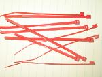 Set of Drone Cord Ties: Red