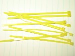 Set of Drone Cord Ties: Yellow